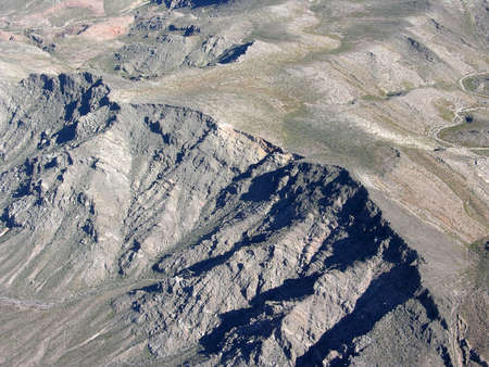 nevada: View by air of the mountains of Nevada in the USA.