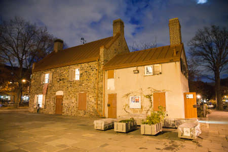 dodgers: BROOKLYN, NEW YORK, USA - NOVEMBER 22: The historical Old Stone House Museum, location of the American Revolution battle of Brooklyn and once clubhouse for the Superbas.  Taken November 22, 2015 in NY.