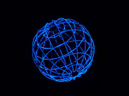 A blue LED lighted sphere Stock Photo
