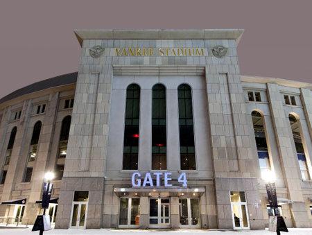 bronx county: BRONX, NEW YORK - FEBRUARY 20:  Yankee Stadium at night in winter.  Taken February 20, 2015, in the Bronx,  New York.