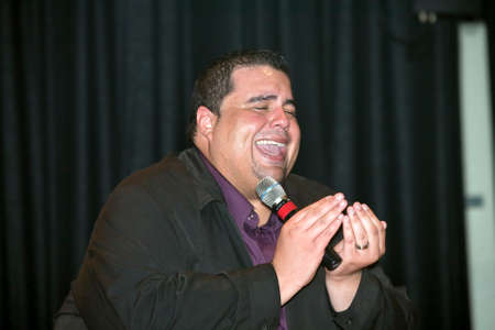 possibilities: BRONX, NEW YORK - MARCH 17: Reverend Edgar J. Cruz  performs during a Christian concert for Realizing Possibilities ministry.  Taken March 17, 2012, in  New York. Editorial