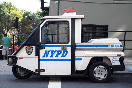 bronx county: BRONX, NEW YORK - AUGUST 21: NYPD emergency service vehicle parked during a Yankee Stadium ball game.  Taken August 21, 2015 in  New York.