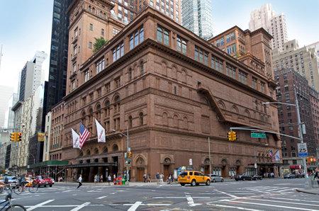 BRONX, NEW YORK - AUGUST 21: Carnegie Hall building in Manhattan.  Taken August 21, 2015 in  New York. Redakční