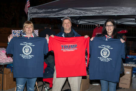 district of columbia: WASHINGTON, DC - JANUARY 20: Vendors selling shirts for the Presidential Inauguration of Donald Trump.  Taken January 20, 2017 in District of Columbia. Editorial