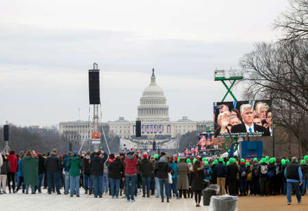 vp: WASHINGTON, DC - JANUARY 20:  Inauguration of Donald Trump.  Taken January 20, 2017 in District of Columbia. Editorial