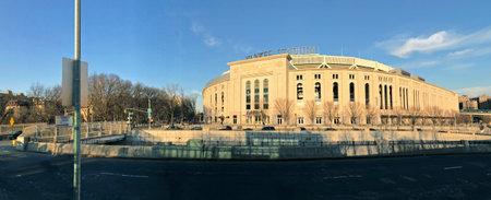 bronx county: BRONX, NEW YORK, USA - FEBRUARY 19:  Panoramic of Yankee Stadium during the day.  Taken February 19, 2017 in New York. Editorial