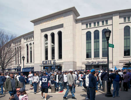 bronx county: BRONX, NEW YORK, USA - APRIL 10: Yankee Stadium on opening day.  Taken April 10, 2017 in New York.