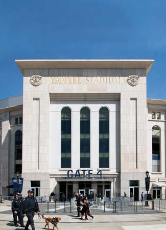 counter terrorism: BRONX, NEW YORK, USA - APRIL 10:  NYPD Police counter terrorism Bureau officers patrol Yankee stadium during opening day game.  Taken April 10, 2017 in New York. Editorial
