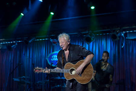 NEW YORK, NEW YORK, USA - OCTOBER 13: Graham Russell of Air Supply performs at B.B. Kings blues club and grill.  Taken October 13, 2017 in New York.