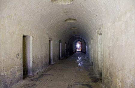 BROOKLYN, NEW YORK - NOVEMBER 18: Inside the hidden Catacombs of Green-Wood Cemetery.  Taken November 18, 2017 in New York. Editöryel