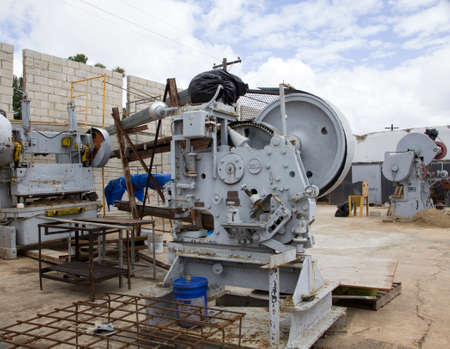 CERRO GOLDO, BAYAMONPUERTO RICO - February 26, 2019: No longer used E.W. Bliss Company machine. Company designed  metal press and stamping machines that made parts for automobiles and military weapon
