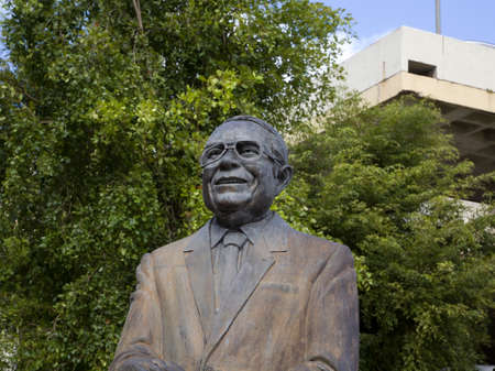 BAYAMONPUERTO RICO - February 26, 2019: Monument to TV producer and comedian  Paquito Cordero