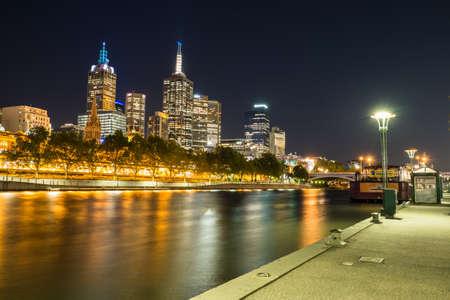 southbank: Melbourne City at night