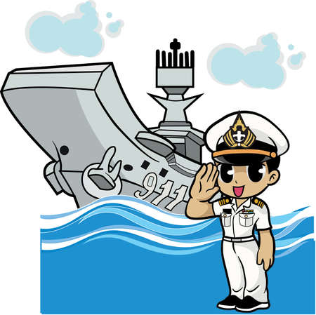 Caricature de marin Banque d'images - 83148224