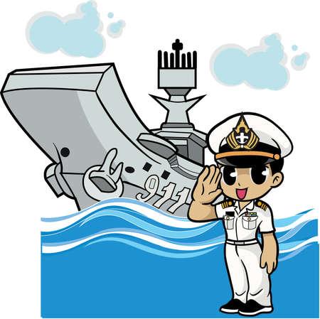 Cartone animato marinaio Archivio Fotografico - 83148224