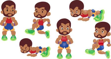 men exercise cardio Stock Vector - 83170370
