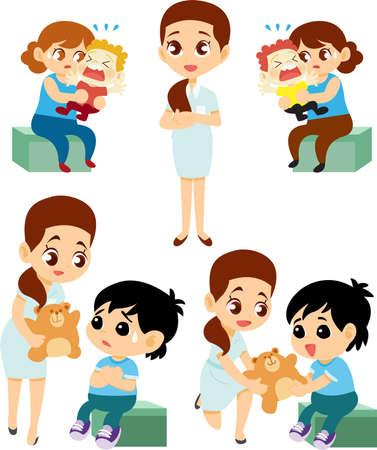 Nurse Cartoon Child care