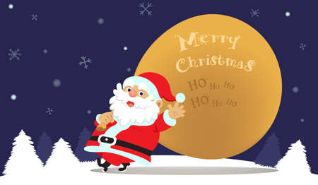 Cute cartoon Santa Claus vector illustration. Illustration