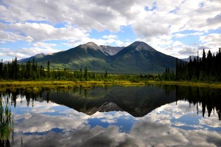 Vermillion Lake reflection Stock Photo