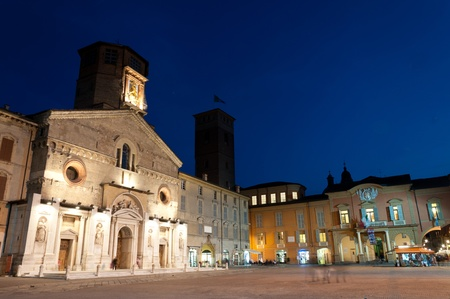 Cathedral and city hall in Reggio Emilia Editorial