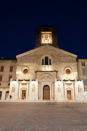 reggio emilia: Reggio Emilia Cathedral night view