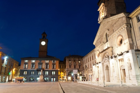 Cathedral and historic buildings in Reggio Emilia