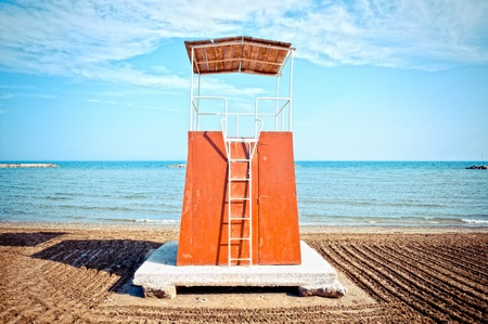 Baywatch tower in Larnaca, Cyprus