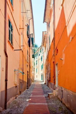 typical mediterranean narrow street