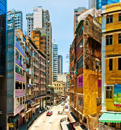 street view in Wan Chai, Hong Kong Stock Photo - 15438852