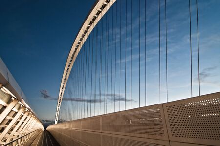 modern Calatrava bridge in Reggio Emilia - northern Italy Stock Photo