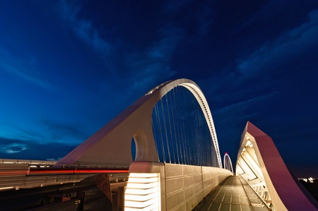 reggio emilia: modern Calatrava bridge in Reggio Emilia - northern Italy Stock Photo