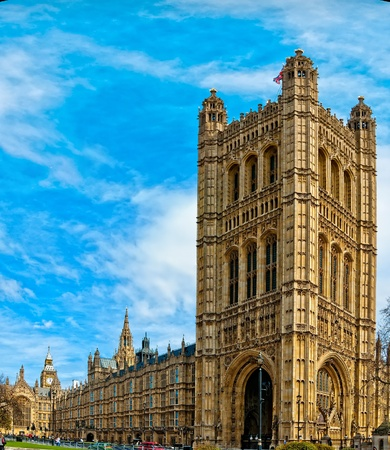 commons: Palace of Westminster, home of the House of Commons and House of Lords with Big Ben in the background