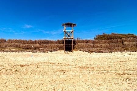 baywatch: Baywatch tower in Piombino beach, Italy