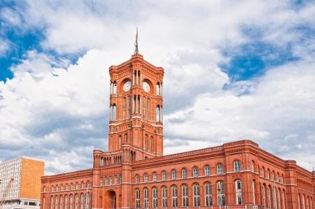 rathaus: Berlin city hall,  rathaus , Alexanderplatz, Germany