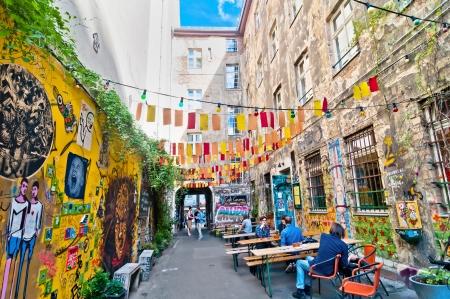 BERLIN, GERMANY - JUNE 09  street view in Brunnenstraße, Mitte district, on June 10, 2013 in Berlin, Germany  Mitte is one of Berlin