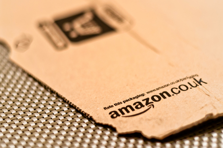 amazon com: detail of delivered Amazon parcel in Milan, Italy  Amazon com is the world s largest online retailer  Editorial