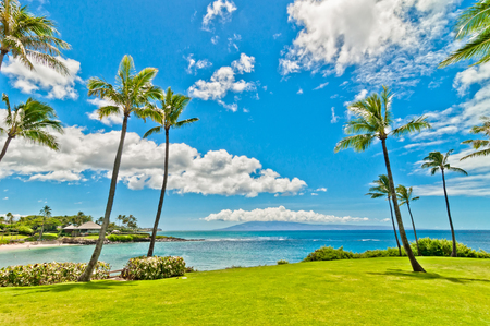 Ocean view in West Maui Kaanapali beach resort area  photo