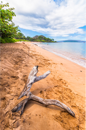 Makena Beach, famous tourist destination in Maui, Hawaii