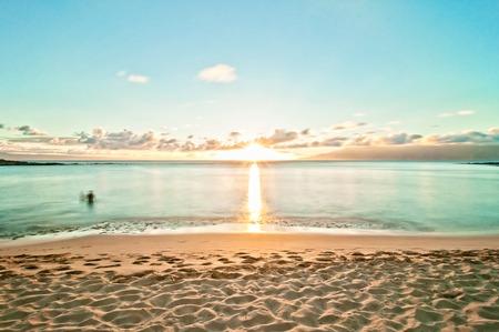 Kaanapali Beach, famous tourist destination in Maui, Hawaii