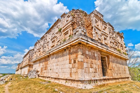 pre columbian: Uxmal ancient mayan city, Yucatan, Mexico