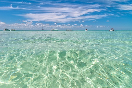 mujeres: tropical sea in Isla Mujeres, Mexico