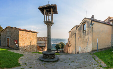 panoramic view of Florence from monastery of S. Francesco in Fiesole. Tuscany, Italy