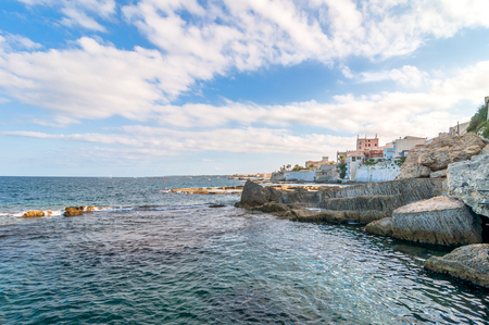 syracuse: Mediterranean sea and coast in Syracuse, Sicily, Italy