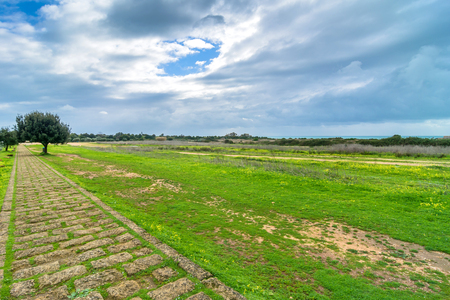 archaeological: Landscape in Selinunte archaeological area, Sicily Stock Photo