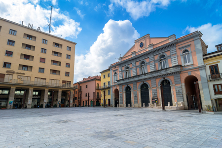 potenza: POTENZA, ITALY - MARCH 13, 2015: day view of Mario Pagano square in Potenza, Italy. Potenza is the highest regional capital city in Italy.