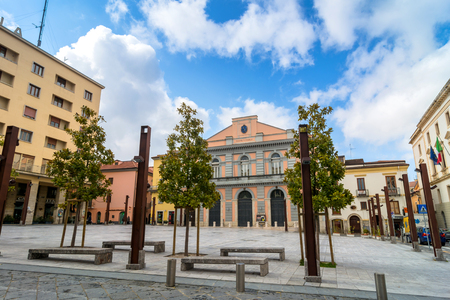 mario: POTENZA, ITALY - MARCH 13, 2015: day view of Mario Pagano square in Potenza, Italy. Potenza is the highest regional capital city in Italy.
