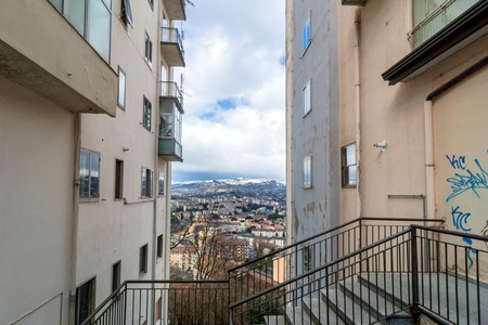 potenza: POTENZA, ITALY - MARCH 13, 2015: panoramic day view of city and mountains in Potenza, Italy. Potenza is the highest regional capital city in Italy. Editorial