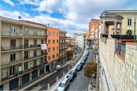 potenza: POTENZA, ITALY - MARCH 13, 2015: day view of downtown street in Potenza, Italy. Potenza is the highest regional capital city in Italy. Editorial