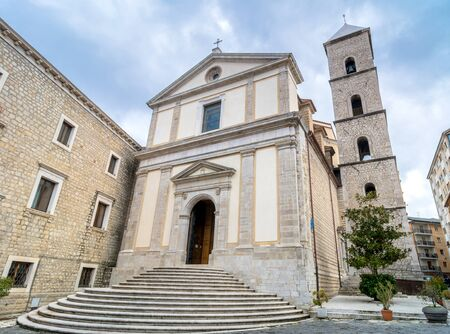 potenza: POTENZA, ITALY - MARCH 13, 2015: day view of Duomo San Gerardo Cathedral in Potenza, Italy. Potenza is the highest regional capital city in Italy.