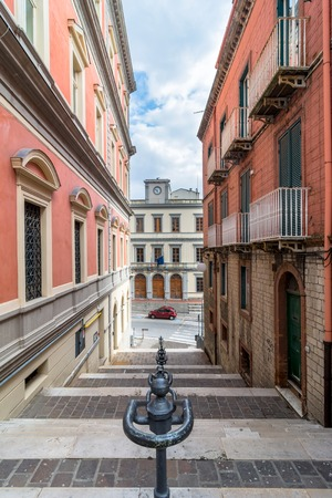 potenza: POTENZA, ITALY - MARCH 14, 2015: day view of downtown street in Potenza, Italy. Potenza is the highest regional capital city in Italy. Editorial